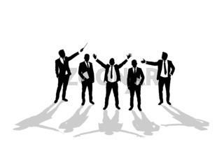 Various business man silhouettes 2