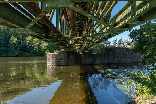 Bridge over the Ruhr in Essen, North Rhine-Westfalia, Germany