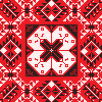 Romanian traditional pattern 204