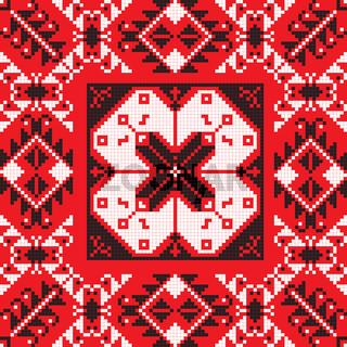 Romanian traditional pattern 204