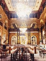 Luxury interior design of Hilton Opera hotel in Paris, France