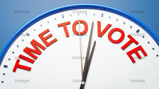 clock time to vote