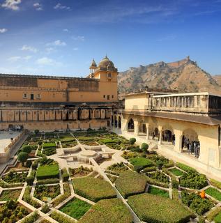 garden in amber fort - Jaipur