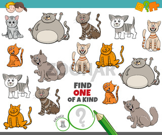 one of a kind game for kids with comic cats