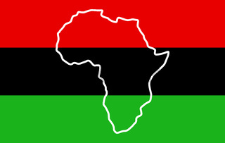 Afro-American people flag