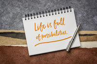 life is full of possibilities inspiraitonal reminder