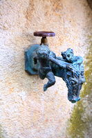 Antique faucet is a sight of Riedenburg
