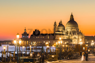 Venice in sunset.