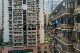 Residential buildings in Chongqing city