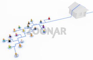 Cartoon Crowd, House Network Bypass