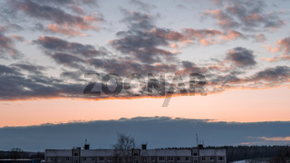 Evening sky at sunset background