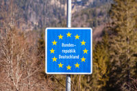 Federal Republic of Germany border sign