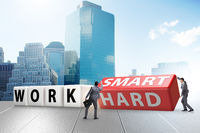 Concept of working smart not hard