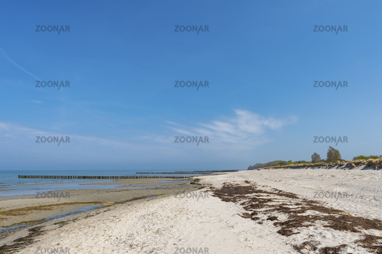 Uncrowded beach on the island of Poel