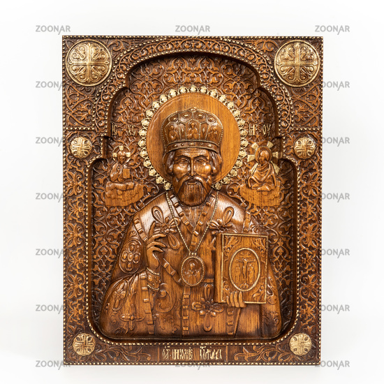 icon with the image of saint of nikolaya wonder-worker