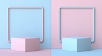 Mock up podium for product presentation two square frames 3D