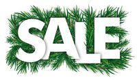 Christmas White Sale Green Twigs