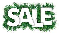 Christmas White Sale Green Twigs