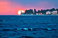Lighthouse Puntamika in Zadar epic sunset view