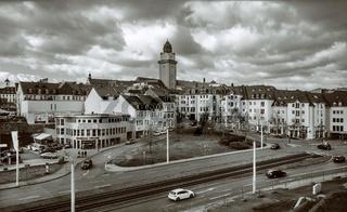 Autokorso in der Stadt Plauen