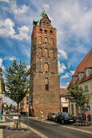 Delitzsch, Germany - 06/19/2019 - historic wide tower