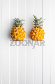 Ripe baby pineapple. Mini pineapple.