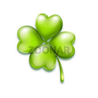 bright leaf clover on white background