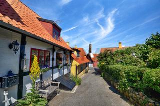 Scandinavian street in a small village