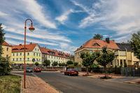 Schönebeck, Germany - June 20, 2019 - street in the new city