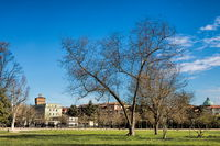 Vicenza, Italy - 03/19/2019 - city park near the old town