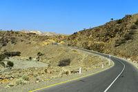 Moderne Asphaltstrasse führt in die Danakil-Ebene