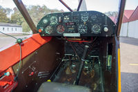 Small aircraft cockpit view