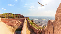 Nahargarh Step Well in the Nahargarh Fort, Jaipur, Rajasthan, India