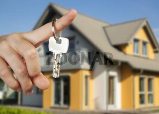 Übergabe des Hausschlüssels