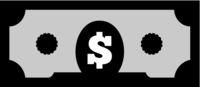 US dollar on white background. Flat vector illustration