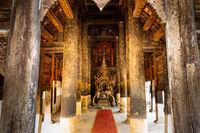 Ancient Vihara Chamma Dhevi at Wat Pong Yang Kok