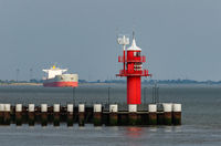 Lighthouse, Brunsbuettel, Schleswig-Holstein, North Sea, Germany