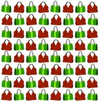 Pattern with illustrated handbags