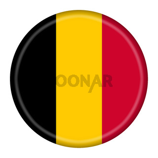 Belgium flag button 3d illustration with clipping path