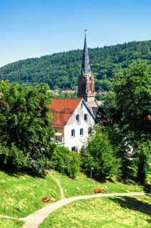Church of the Hermann Hesse city of Calw in Germany