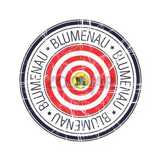 City of Blumenau, Brazil vector stamp