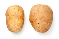 Two Potatoes Isolated On White Background