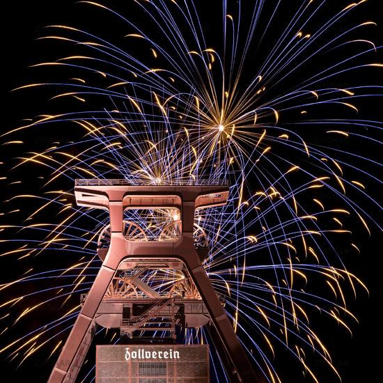 Fireworks, Zollverein, Essen, Germany