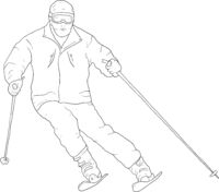 Sketches silhouettes snowboarders on white background illustration