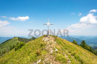 Gipfelkreuz des Almkogels in Oberösterreich