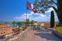 Peschiera del Garda colorful waterfront and architecture view