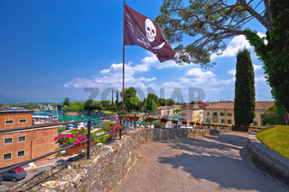 Peschiera del Garda colorful waterfront and architecture view