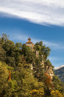 Zenoburg castle at Passer river in Meran, South Tyrol