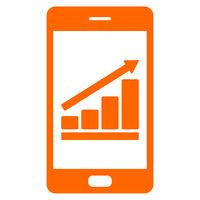 Diagramm und Smartphone - Bar chart and smartphone
