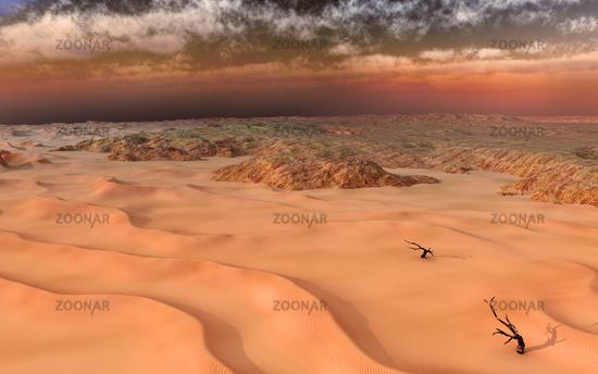 Sandstorm in the Atacama desert